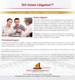 365 estate litigation