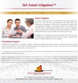 365 estate litigation