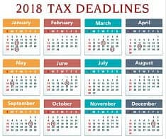 tax deadlines 2018