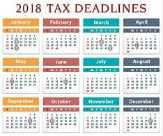 tax deadlines 2018